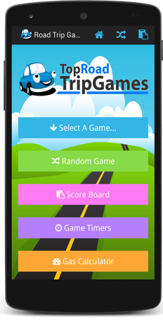road trip games android app frame